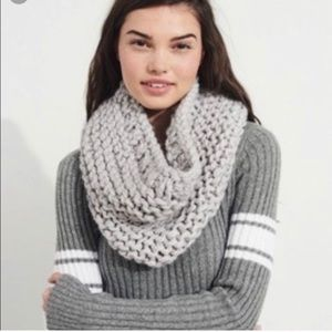 A lot of two Hollister infinity scarves